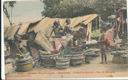 A P 491 -  C P A -  AFRIQUE -  DAHOMEY -  PORTO NOVO- SUR LE MARCHE - Dahomey