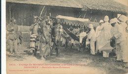 A P 494 -  C P A -  AFRIQUE -  DAHOMEY - VOYAGE DU MINISTRE DES COLONNIES A LA COTE D'AFRIQUE  ARRIVEE DANS COTONOU - Dahomey