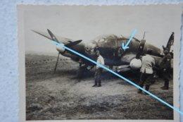 Photo LUFTWAFFE HEINKEL He 111 Crash France 1940 Flugzeug German Bomber Vliegtuig Avion Aviation - Oorlog, Militair