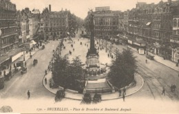 Brussel, Place De Brouckére Et Boulevard Anspach, Ongebruikt - Avenues, Boulevards