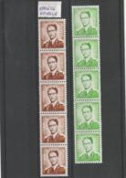 Baudouin Lunettes / Rouleaux - R31-V ** + R33-V1 ** - Variétés (Catalogue COB)