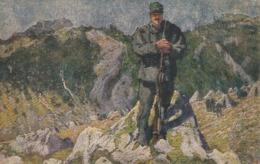 """Tematica - Croce Rossa - C.P. Commemor. IV° Guerra Per L'Indipendenza Ital.- """"Una Sentinella"""" - - Croce Rossa"""