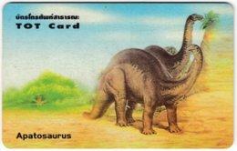 THAILAND F-308 Chip TOT - Painting, Prehistoric Animals, Dinosaur - Used - Thailand