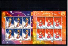 Belarus 2003 .Christmas 2003, New Year. 2 Sheetlets, Each Of 6.    Michel # 509-10   KB - Bielorussia