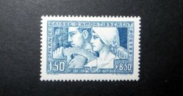 FRANCE 1928 N°252I * (CAISSE D'AMORTISSEMENT. LE TRAVAIL. 1F50 + 8F50 BLEU. TYPE I) - Sinking Fund