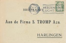 Nederland - 1931 - 5 Cent Kind, Enkelfrankering Op Businesscard Van Amsterdam Naar Harlingen - Periode 1891-1948 (Wilhelmina)