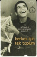TURKEY - Smiley With Kitty, Herkes Icin Tek Toplum(60 Units), 10/01, Used - Turquie
