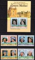 ST VINCENT GRENADINES BEQUIA - 1985 LIFE & TIMES OF QUEEN ELIZABETH THE QUEEN MOTHER SET (8V) & MS FINE MNH ** - St.Vincent & Grenadines