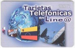 VENEZUELA B-398 Chip CanTV - Flag Of Venezuela, Communication, Satellite Dish - Used - Venezuela