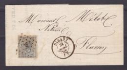 N° 17 / Lettre De DINANT Vers Flavion Lac - 1865-1866 Profile Left