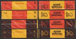 RAR, Portugal 2019 - Açúcar Demerara / Série Complète 4 Sachets/ Sticks Vides - Suiker