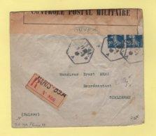Controle Postal Militaire - Censure 117 - EM - Paris 83A - Type Semeuse - 9-8-1916 - Destination Suisse - Guerra De 1914-18