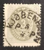 1875 Royal Emblem, 3 Øre, Danmark, Denmark, Danemark, *, ** Or Used - Usati