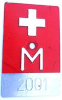 Velonummer Militär Radfahrer 2001 - Plaques D'immatriculation
