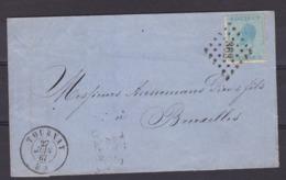 N° 18 / Lettre De TOURNAI  Vers BXL Lsc - 1865-1866 Profile Left