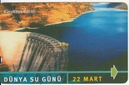 TURKEY - Dunya Su Gunu, Karakaya Baraji(30 Units), 03/02, Used - Turquie