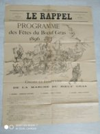 Affiche Programme Des Fêtes Du Boeuf Gras 1896 à Paris. Illustrée Par Ferdinand Raffin - Affiches