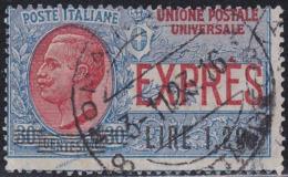 ITALIA 1921 Espresso L.1,20 Su 30c Usato Molto Bello  Sassone E5 - 1900-44 Victor Emmanuel III.