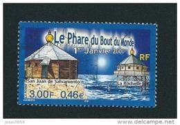 N° 3294 Timbre Oblitéré ROND Le Phare Du Bout Du Monde 2000   Timbre France La Rochelle  0.46€ / 3.00 Frs - France