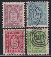 DENMARK 1896 Service Set Of 4v MH, Used Catalog Value $ 52 - Usati