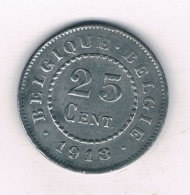 25 CENTIMES 1918 BELGIE /8776/ - 1909-1934: Albert I