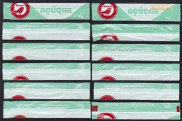 Auchan, Portugal 2019 - Sticks Numerados / Série Complète 10 Sachets Vides Numéroté - Zucchero (bustine)