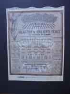 FRANCE - PARIS 1907 - LE CREDIT FINANCIER DE FRANCE - OBLIGATION DE 500 FR  - DECO - Aandelen