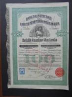 MEXIQUE - MEXICO1909 - BANCO HIPOTECARIO - OBLIGATION DE 257 FRS - BELLE VIGNETTE - Aandelen
