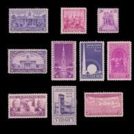 UNITED STATES 1938 - 39 STAMP. SCOTT # 835 - 858. UNUSED. - Unused Stamps