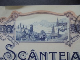 ROUMANIE - PLOESTI 1915 - SCANTEIA - ACTION DE 500 LEI - BELLE VIGNETTE DE TYPE ART NOUVEAU - Azioni & Titoli