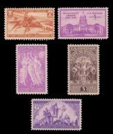 UNITED STATES STAMP. 1940 SCOTT # 894 - 898. UNUSED - Unused Stamps