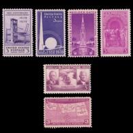 UNITED STATES 1939 STAMP. SCOTT # 852 - 858. UNUSED. - Unused Stamps