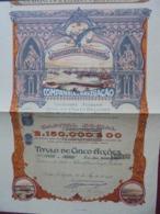 ACORES - PENTA DELGADA 1920 - COMPANHIA DE NAVEGACAO - TITRE DE 5 ACTIONS DE 1500 ESCUDOS - BELLE DECO - Aandelen