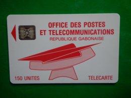 Télécarte Gabon, Office Des Postes Et Télécommunications, République Gabonaise, 150 Unités, Utilisé, Traces - Gabun