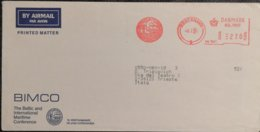 1985 Danmark - The Baltic And International Maritime Conference  EMA Meter 270 - Used Stamp On Air Mail Cover To Italy - Ships
