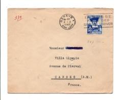 SUISSE OBLITERATION MECANIQUE SPORTS D'HIVER SUR LETTRE DE GENEVE POUR LA FRANCE 1940 - Zwitserland