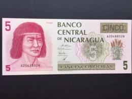 NICARAGUA P174 5N CORDOBAS 1991 UNC - Nicaragua