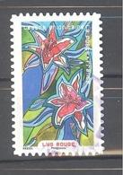 France Autoadhésif Oblitéré N°1308 (Fleurs à Foison - Lys Rouge) (cachet Rond) - France