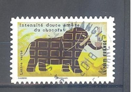 France Autoadhésif Oblitéré N°1457 (Le Goût) (cachet Rond) - Used Stamps