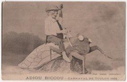CPA 83 TOULON Carnaval 1925 Montage Surréalisme Enfant Rodéo Cigale Géante - Toulon