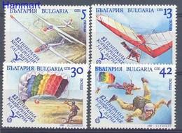 Bulgaria 1989 Mi 3801-3804 MNH ( ZE2 BUL3801-3804 ) - Flugzeuge