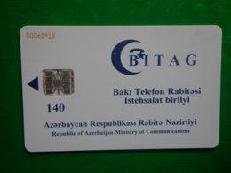 Télécarte Azerbaijan, 140 Unités, Utilisé, Traces - Aserbaidschan