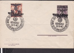 Ganzsache Generalgouvernement  Umschlag Sonderstempel Krakau 1940 - Briefe U. Dokumente