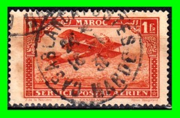 MARRUECOS SELLO AÑO 1922 AIRMAIL OVER CASABLANCA POSTAL SERVICE AERIEN - Morocco (1956-...)