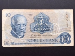 NORWAY P36 10 KRONER 1976 VG - Noruega