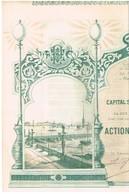 Action Ancienne - Eclairage Electrique De St-Pétersbourg - Titre De 1897 N°05621 - Déco - Russie