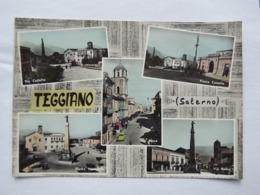 Q294 CARTOLINA Di  SALUTI DA TEGGIANO    SALERNO   VIAGGIATA - Salerno