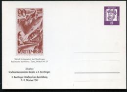 FRANZÖSISCHE ZONE MICHEL #37 Bund PP23 D2/001b 1962  NGK 15,00 € - Briefmarken Auf Briefmarken