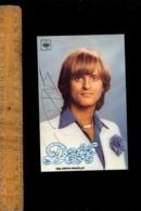 Musique : Chanteur  Chanson DAVE  Autographe Signée Discographie CBS Au Dos - Music And Musicians