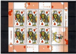 Belarus 2004. Valentine's Day. Sheetlet Of 7 + Label.  Michel #  529 KB - Bielorussia